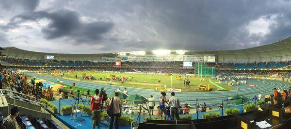 Стадион, где проходит юношеский чемпионат мира по легкой атлетике