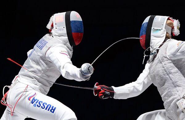 Слева направо: Аида Шанаева (Россия) и Инна Дериглазова (Россия)