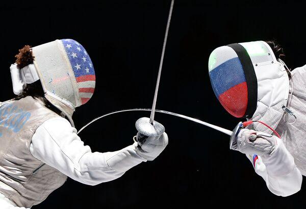 Слева направо: Нзинга Прескод (США) и Аида Шанаева (Россия)