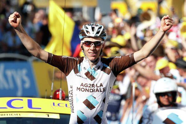 Французский велогонщик команды AG2R La Mondiale Ромен Барде