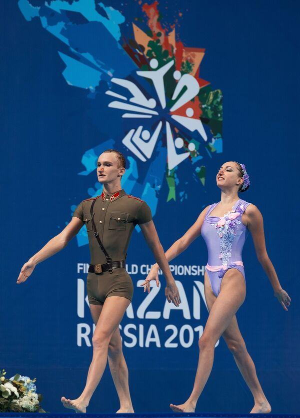 Чемпионат мира FINA 2015. Синхронное плавание. Смешанный дуэт. Техническая программа. Предварительный раунд