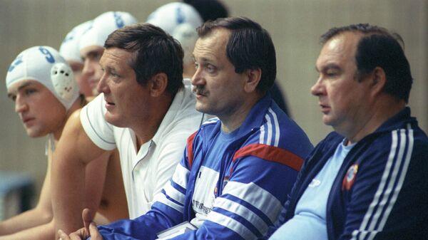 Тренеры сборной СССР - Г. Горчаков, А. Кабанов и Борис Попов