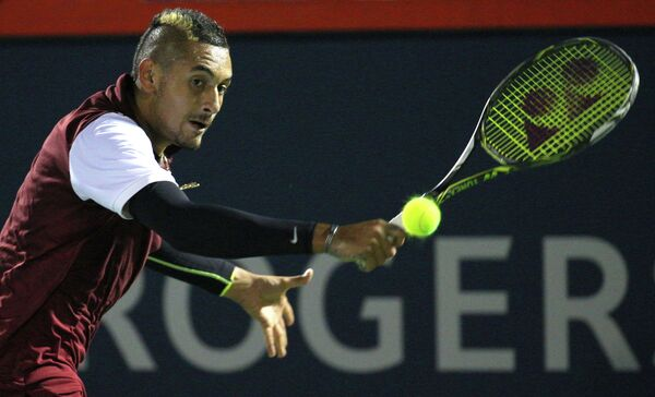 Ник Кирьос на теннисном турнире в Монреале