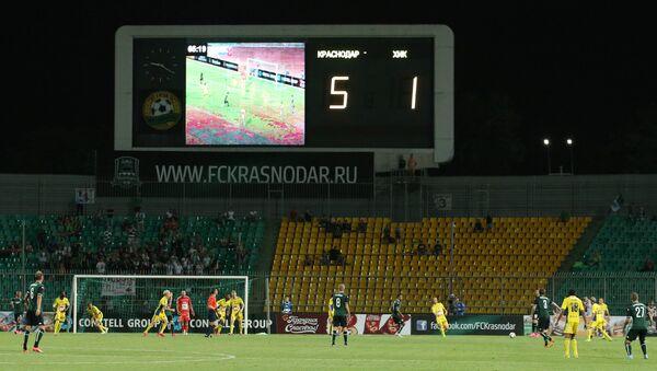 Игровой момент матча Краснодар - ХИК