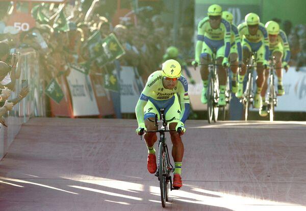 Велогонщики российской команды Tinkoff-Saxo