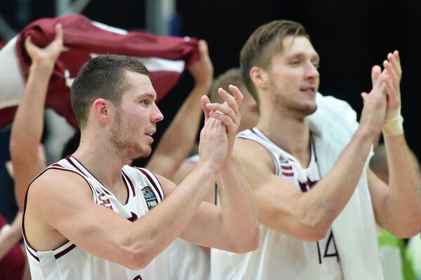 Баскетболисты сборной Латвии