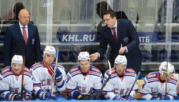 Тренер СКА Игорь Калягин (слева) и главный тренер СКА Андрей Назаров