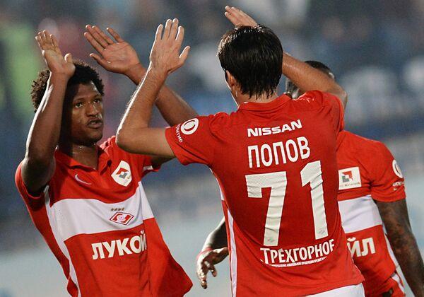 Игроки ФК Спартак Зе Луиш и Ивелин Попов (справа)