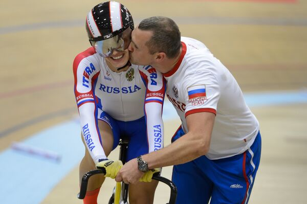 Анастасия Войнова с тренером