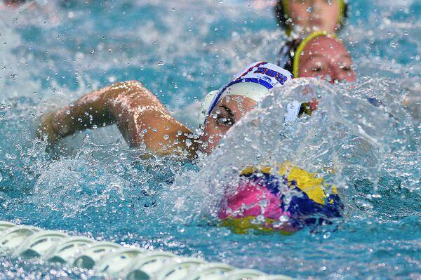 Игрок сборной России по водному поло Анна Богданова