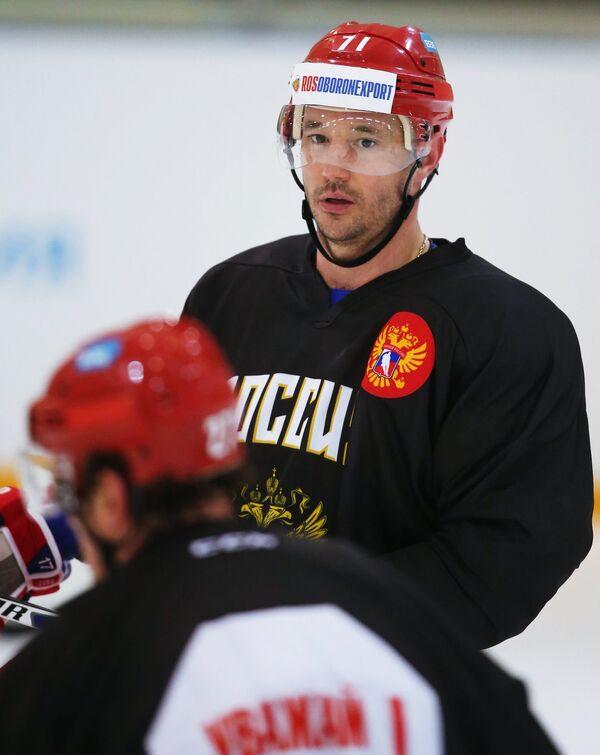 Нападающий сборной России Илья Ковальчук
