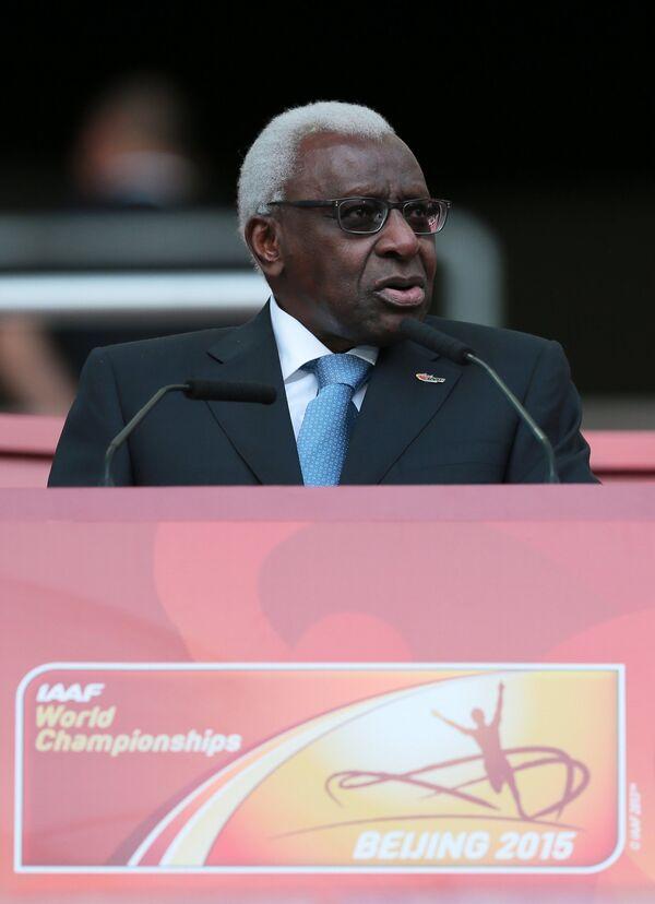 Бывший президент Международной ассоциации легкоатлетических федераций Ламин Диак