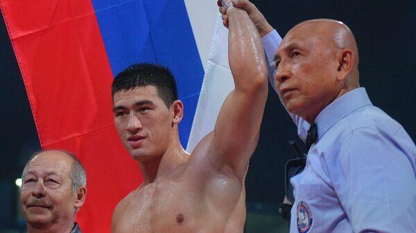 Дмитрий Бивол (Россия) после окончания боя за титул чемпиона мира по версии IBF/IBO