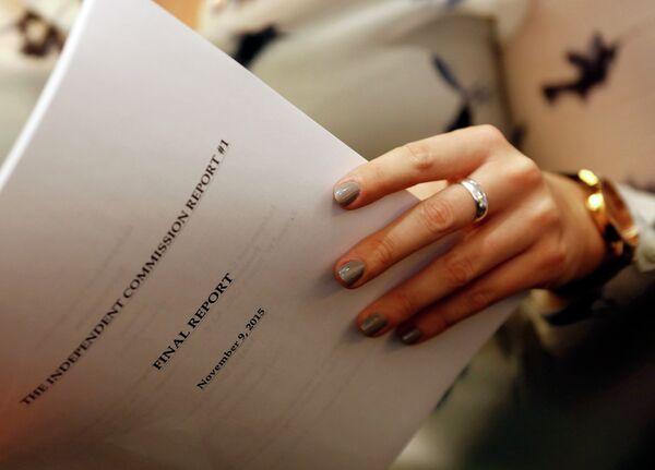 Отчет WADA на пресс-конференции организации 9 ноября 2015 года