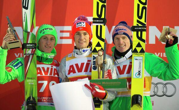 Петер Превц, Даниэль-Андре Танде и Зеверин Фройнд (слева направо)