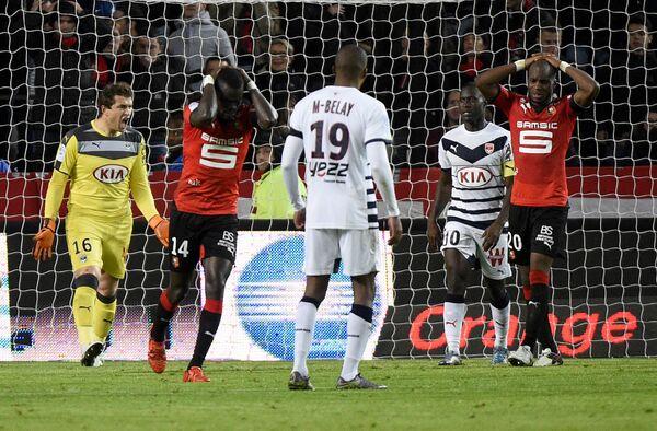 Игровой момент матча Ренн - Бордо