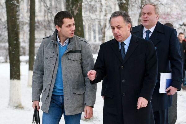 Юрий Борзаковский, Виталий Мутко и Юрий Нагорных (слева направо)