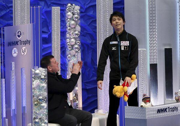 Юдзуру Ханю (справа)
