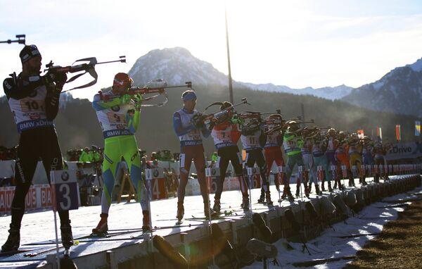Слева направо: Симон Фуркад (Франция), Яков Фак (Словения), Алексей Волков (Россия)