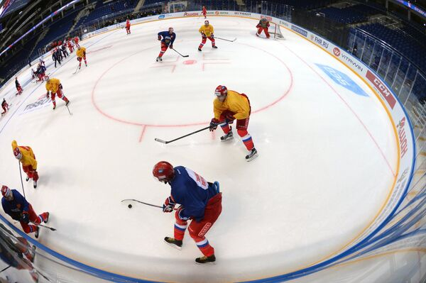 Открытая тренировка сборной России по хоккею