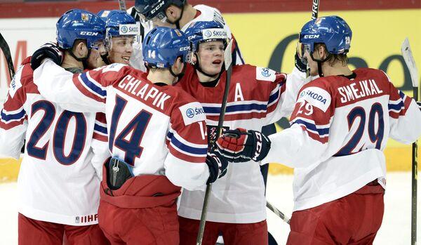Хоккеисты молодежной сборной Чехии