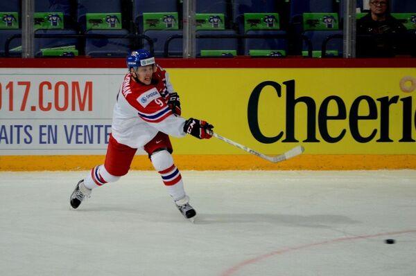 Форвард молодежной сборной Чехии по хоккею Давид Пастрняк