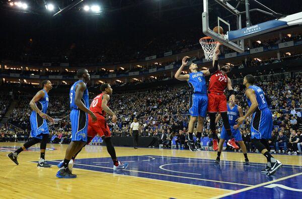 Игровой момент матча НБА Орландо - Торонто