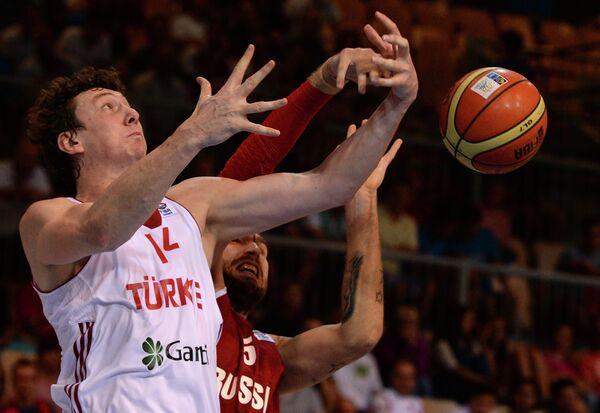 Баскетбол. Чемпионат Европы. Мужчины. Матч Турция – Россия