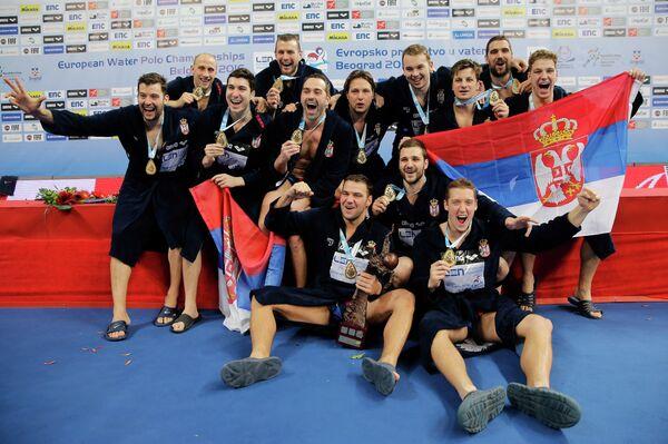 Ватерполисты сборной Сербии