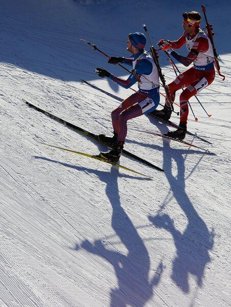 Слева направо: Максим Цветков и Уле Эйнар Бьёрндален