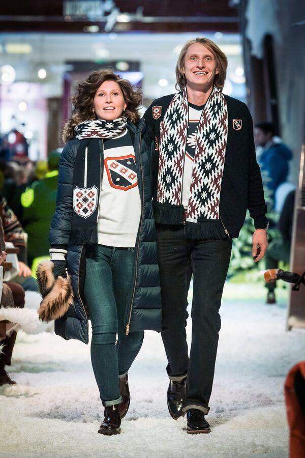 Конькобежец Иван Скобрев с супругой Ядвигой