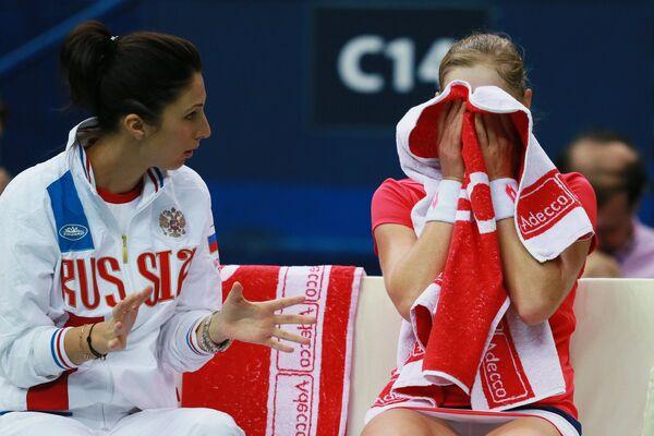 Анастасия Мыскина (слева) и Екатерина Макарова