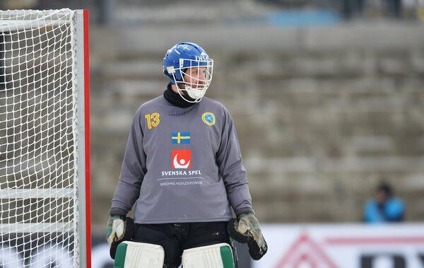 Вратарь сборной Швеции Андреас Бергвалл