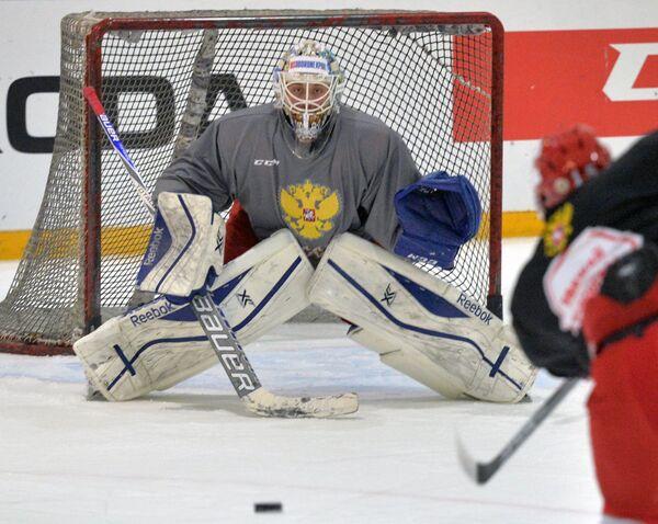 Вратарь сборной России Иван Налимов
