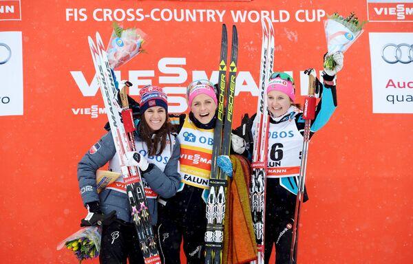 Хейди Венг, Тереза Йохёуг и Ингвильд Флугстад Эстберг (слева направо)