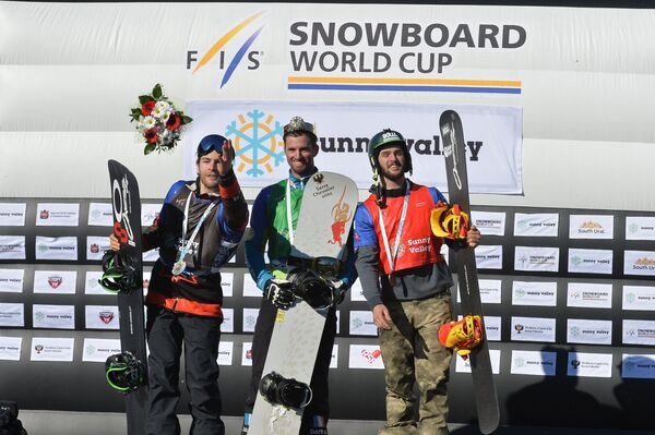 Кристофер Робанске (Канада), Пьер Вольтье (Франция) и Лукас Эгибар (Испания) (слева направо)