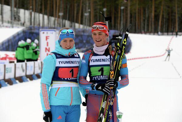 Виктория Сливко и Антон Бабиков (слева направо)