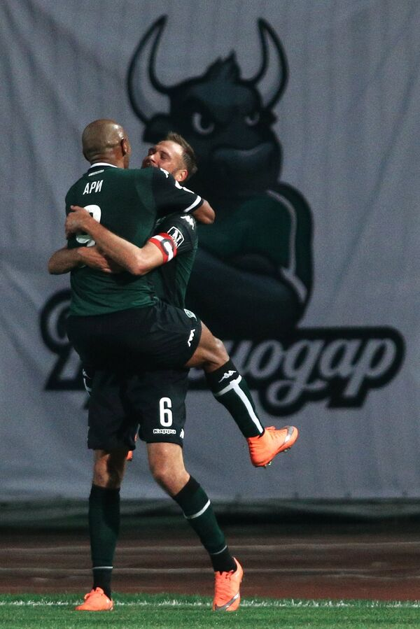 Игроки ФК Краснодар Ари и Андреас Гранквист (справа)