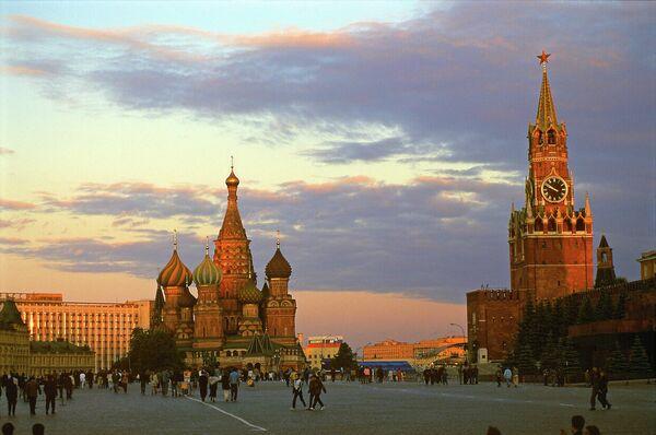Закат на Красной площади в Москве