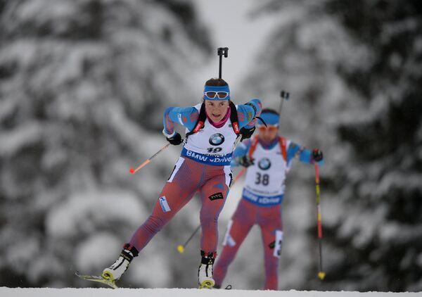 Екатерина Юрлова (Россия) и Дарья Виролайнен (Россия) (слева направо)