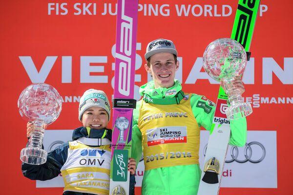 Сара Таканаси и Петер Превц (слева направо)