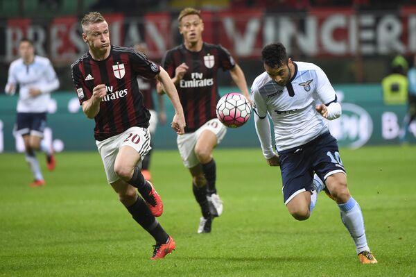 Игровой момент матча Серии А Милан - Лацио