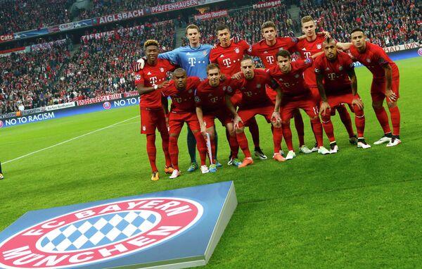Футболисты Баварии перед началом матча с Бенфикой
