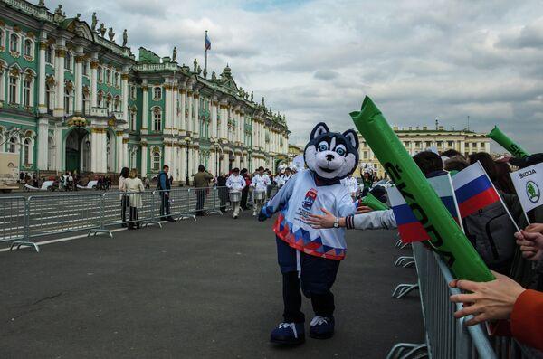 Талисман чемпионата мира по хоккею 2016 Лайка