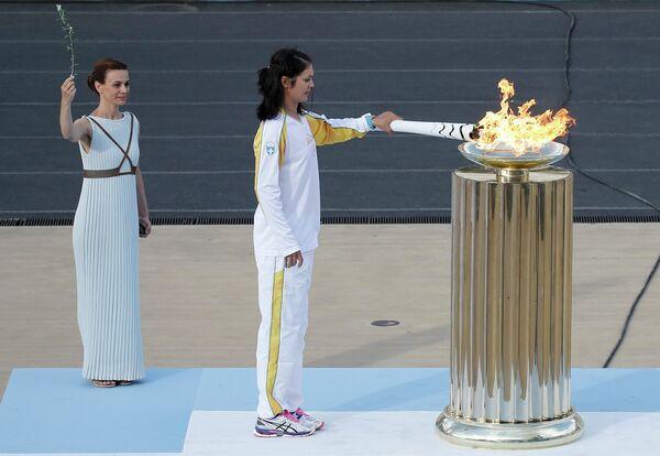 Огонь летних Олимпийский игр Рио-де-Жанейро