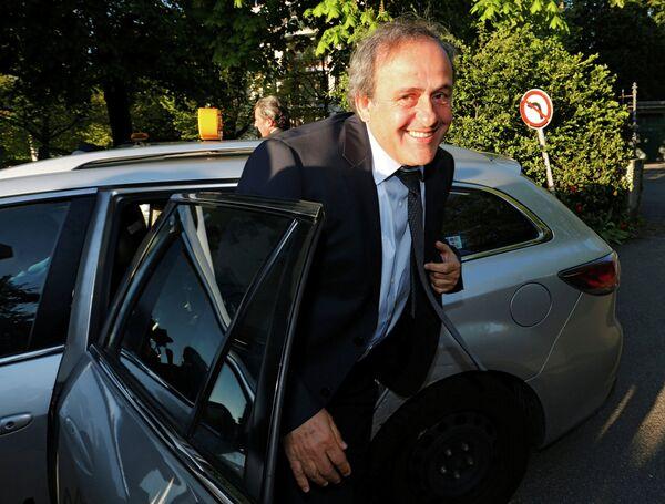 Отстраненный глава УЕФА Мишель Платини прибыл в Спортивный арбитражный суд в Лозанне