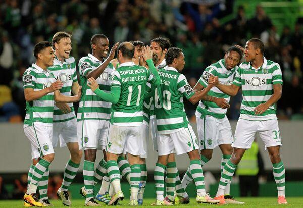 Футболисты лиссабонского Спортинга