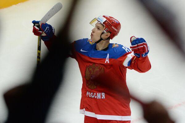 Нападающий сборной России Вадим Шипачев