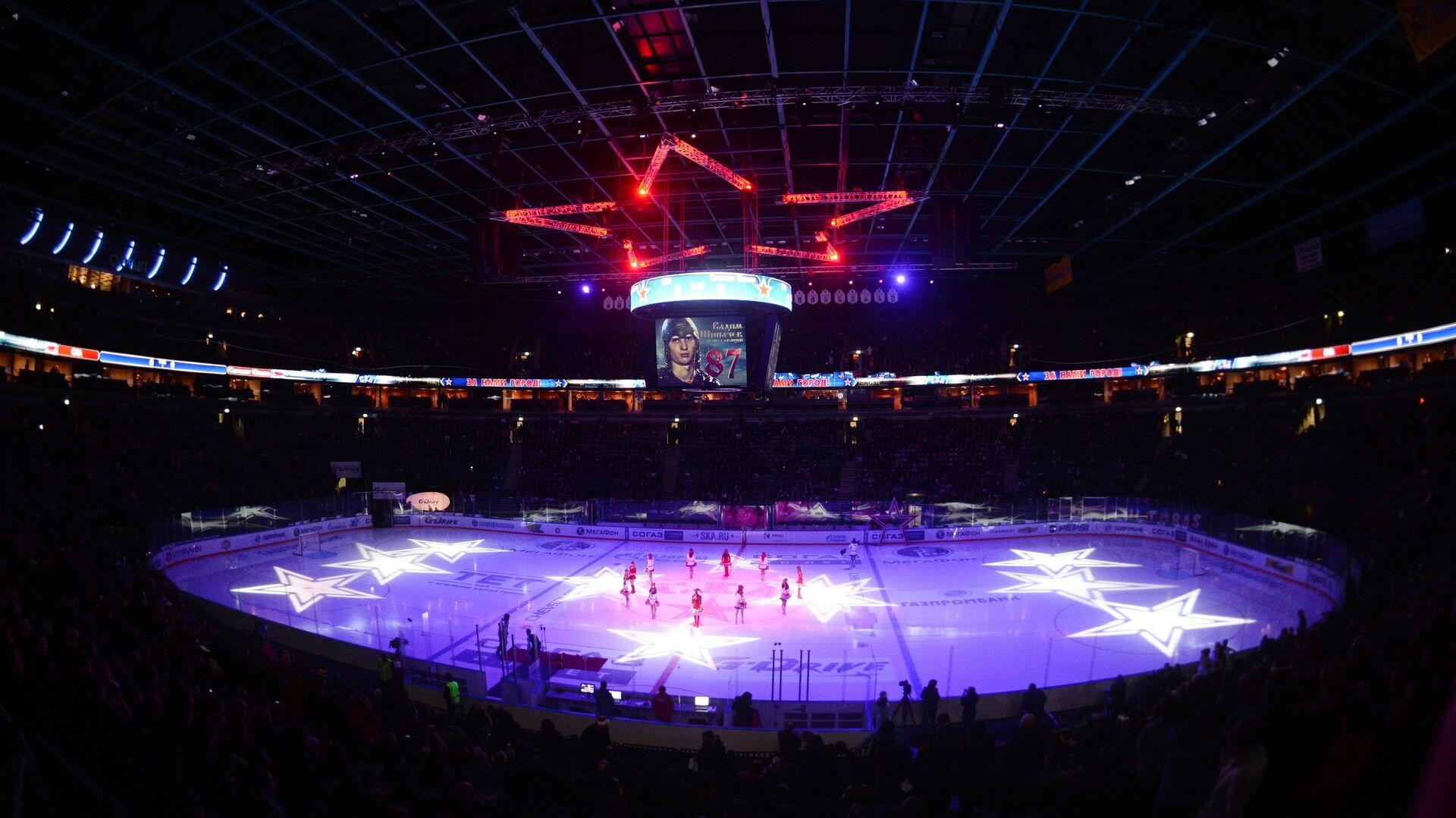 Стадион Ледовый дворец перед началом матча регулярного чемпионата Континентальной хоккейной лиги - РИА Новости, 1920, 30.11.2020