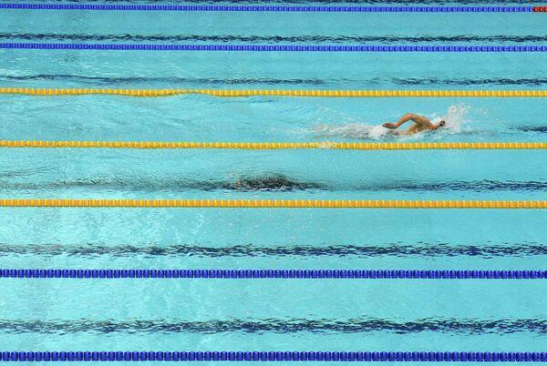 Итальянский пловец Грегорио Палтриньери на дистанции 1500 метров вольным стилем